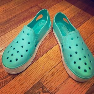"Shoes - Baby Blue ""Clog"" Slip Ons"